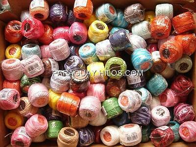 Lot 30 Balls #8 Perle/Pearl Cotton Threads Hardanger Hand Embroidery