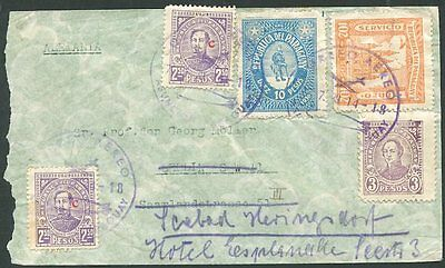PARAGUAY TO GERMANY Air Mail Re-sent Cover 1939 VF