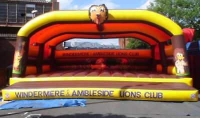 Lion With Head Bouncy Castle 11.5 FT X 11.5 Made To Order