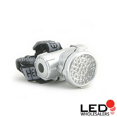 Super Size 40 LED Headlight  4 mode 3 AA Large Headlamp