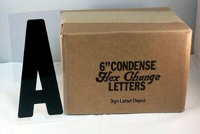 "6"" Condensed Changeable Sign Letters Printed on 6 7/8"" Clear Flex Plastic Panel"