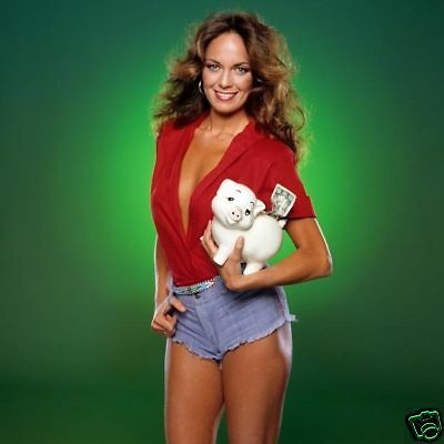 Catherine Bach Busty Red Shirt & Hot Pants 12X12 Photo