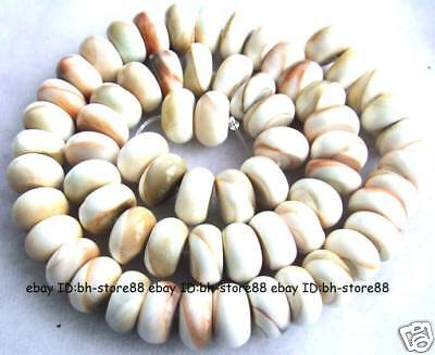 7x12mm Beautiful Natural Shell Roundel Beads 15.5''