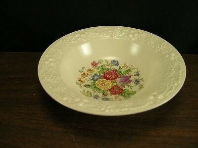 "Homer Laughlin Theme TH11 Floral 5.75"" Fruit Bowl"