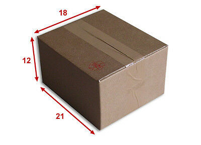 10 boîtes emballages cartons  n° 15   - 210x180x120 mm - simple cannelure