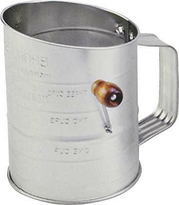 New Norpro 136 3 Cup Tin Crank Flour & Food Sifter 6231757