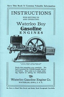 Waterloo Boy Gasoline Engines Manual J D hit & miss