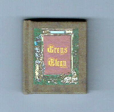Dollshouse Miniature Book - Grey`s Elegy