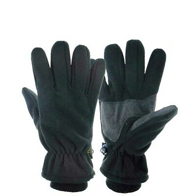 WINDPROOF WATERPROOF TREK GLOVES black fleece walking hiking Mens Large