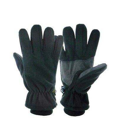 WINDPROOF WATERPROOF TREK GLOVES black fleece walking hiking Mens Small