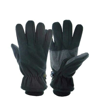 WINDPROOF WATERPROOF TREK GLOVES black fleece hiking Mens Medium