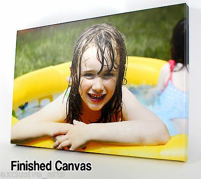 PERSONALISED XL 30x20 LARGE A1 CANVAS PRINT Your PHOTO PICTURE 30MM FRAMED 320GS
