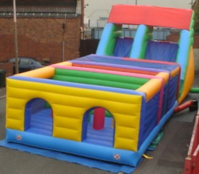 2 Part Obstacle Course  15 FT x 38 FT x 13 FT Made To Order