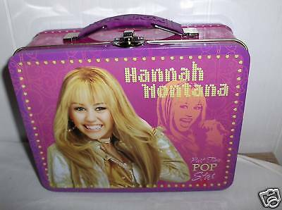 Hannah Montana`Raised Graphic`Metal Lunchbox`NEW->Free To US