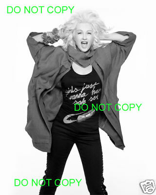 CYNDI LAUPER - 8x10 Photo - SCREAMING B&W