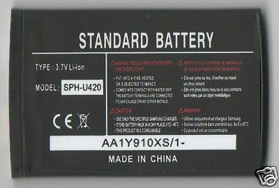 Lot 25 New Battery For Samsung U420,a580,d347,d407,a420