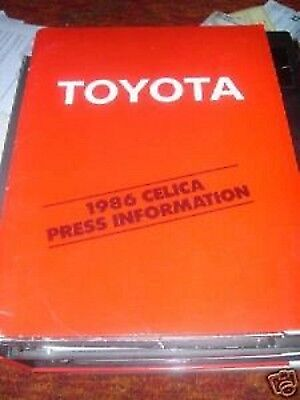 1986 Toyota Celica Introduction Press Kit