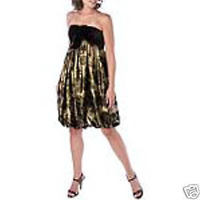 NEW KAY UNGER Velvet Gold Bubble BROCADE DRESS 4 8 $420