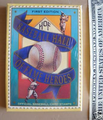 Nib Baseball Hall Of Fame Heroes Set Of 12 Stamp Cards