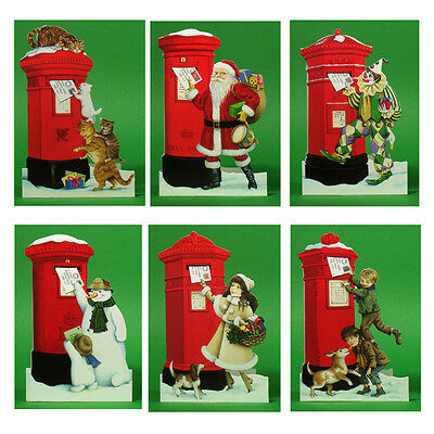 150 Pillar Box Xmas Gift Cards with a Detachable Miniature Envelope  XG0001