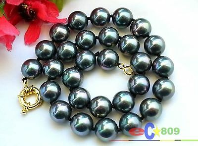 """D0038 24/"""" 14mm round SOUTH SEA SHELL PEARL NECKLACE"""