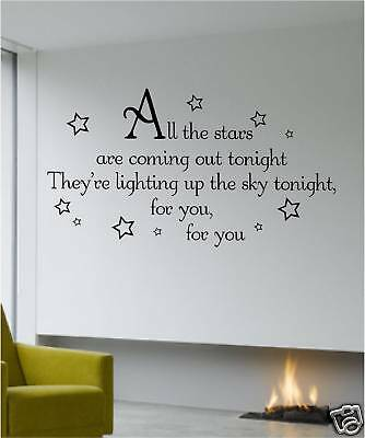 Wall Quote Stars Are Coming Out Take That Art Sticker