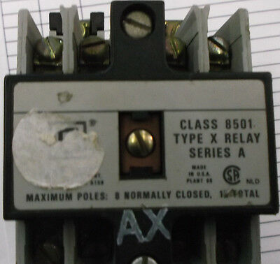 SQUARE D 8501-X080 120V RELAY 20amp Control Relay id9067/2-3