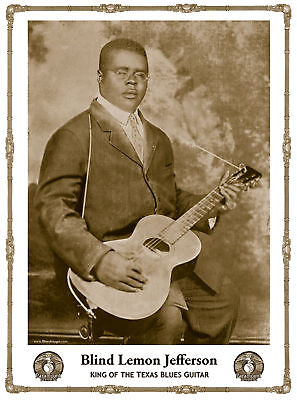 John Tefteller's Blues Images Poster Blind Lemon Jefferson Paramount Records Art