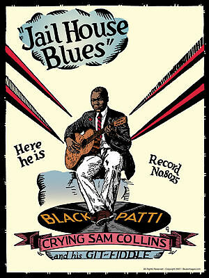 John Tefteller's Blues Images Poster Crying Sam Collins Rare Black Patti Artwork