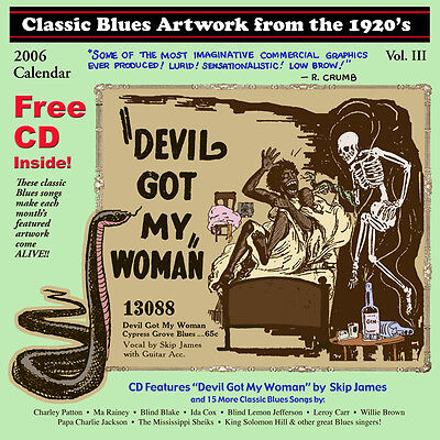John Tefteller's Blues Images Calendar 2006 + FREE CD Paramount Race Record Art