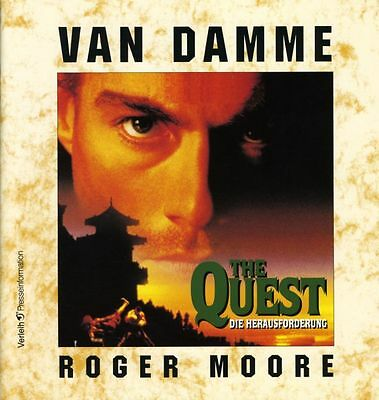 The Quest ORIGINAL Presseheft Jean-Claude Van Damme TOP