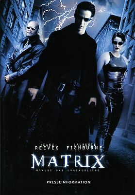 Matrix ORIGINAL Presseheft Keanu Reeves / L. Fishburne