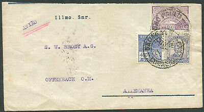 BRAZIL TO GERMANY Old Air Mail Cover VF