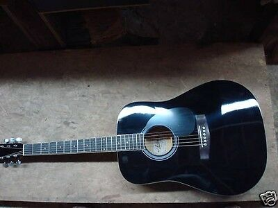 Ariana Black Acoustic Guitar Package New Inm Box