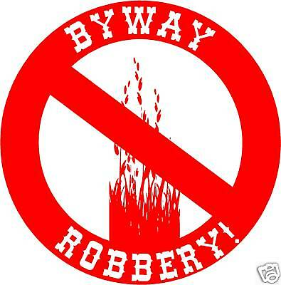 Byway Robbery! Land Rover 4X4 Sticker Defender Off Road