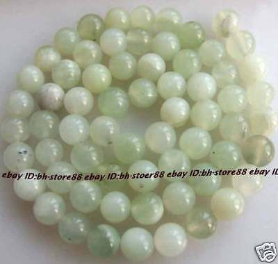 6mm Natural Green new Jade Round Gemstone Beads 15''