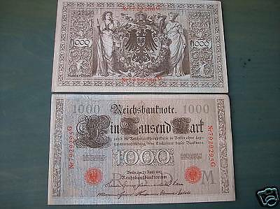Imperial Germany 1000 Mark Reichsbanknote - 1910