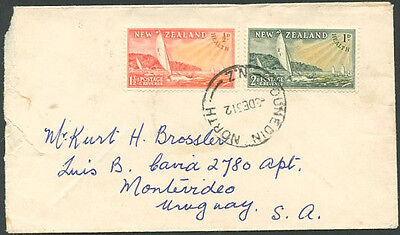 NEW ZEALAND TO URUGUAY Old Cover VF