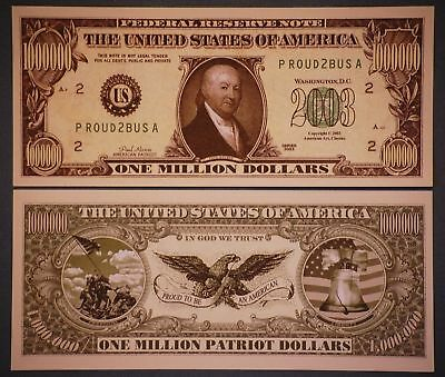 * CLASSIC MILLION DOLLAR BILL PLUS HOLDER Protector Novelty Money
