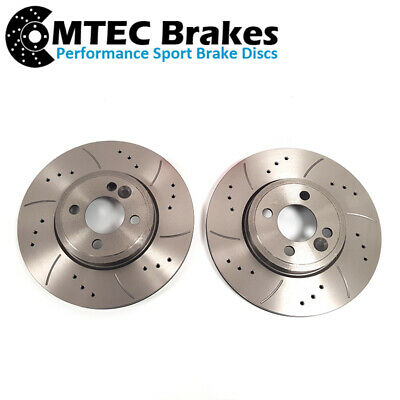 R56 Mini Cooper S 294mm Drilled Grooved Brake Discs Front
