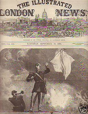 1870 Illustrated London News Sept 17Paris is surrounded