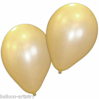 "10 x Ivory 12"" Pearlised Wedding Balloons"