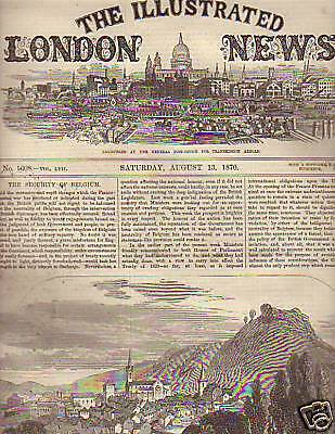 1870 Illustrated London News Aug 13 - Belgium is safe