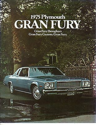 1975 Plymouth Gran Fury Sales Catalog - new from dealer