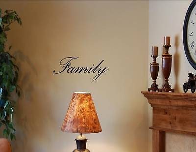 FAMILY Vinyl wall quotes lettering sayings art decor #0278
