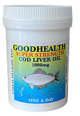 Goodhealth Cod Liver Oil SuperStrength 1000mg 30 capsules - Potted