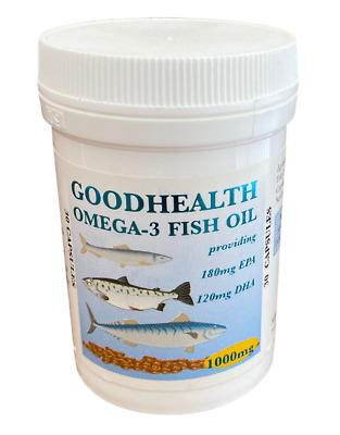 Goodhealth Omega 3 Fish Oil 1000mg 30 capsules - Potted Free UK Postage