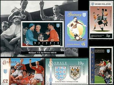 BLACKPOOL FA CUP Football Stamps / Stanley Matthews
