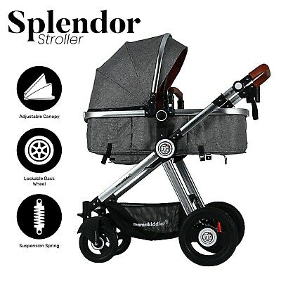 Mamakiddies Compact Cabin Light weight Baby Stroller Baby Pram Travel Carry