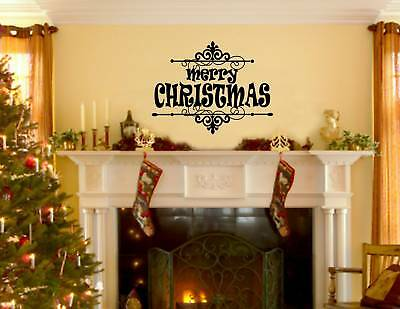 MERRY CHRISTMAS Vinyl wall quotes lettering sayings art